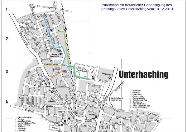 (Quelle: Gemeinde Unterhaching - Rathaus, Publikation mit freundlicher Genehmigung des Ordnungsamtes Unterhaching)
